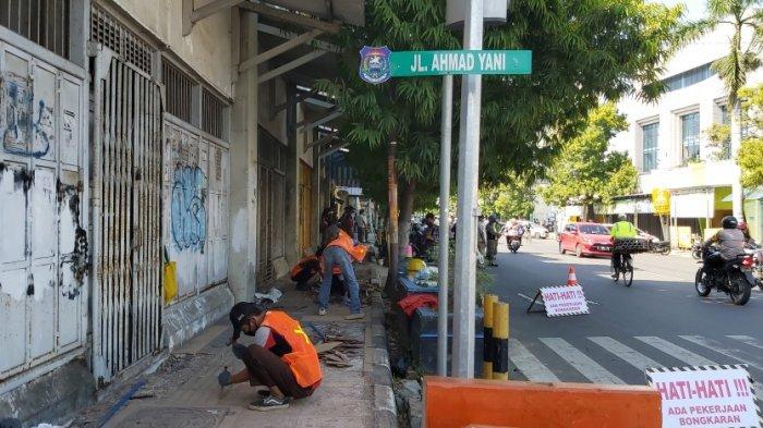 Sempat Dihentikan Paksa, Pengerjaan Proyek City Walk Malioboronya Kota Tegal Dilanjutkan Kembali