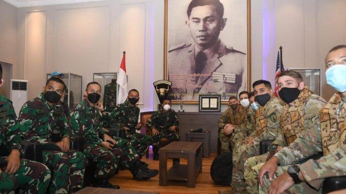 Prajurit Yonif R 400/Banteng Raider Latihan Bersama US Army