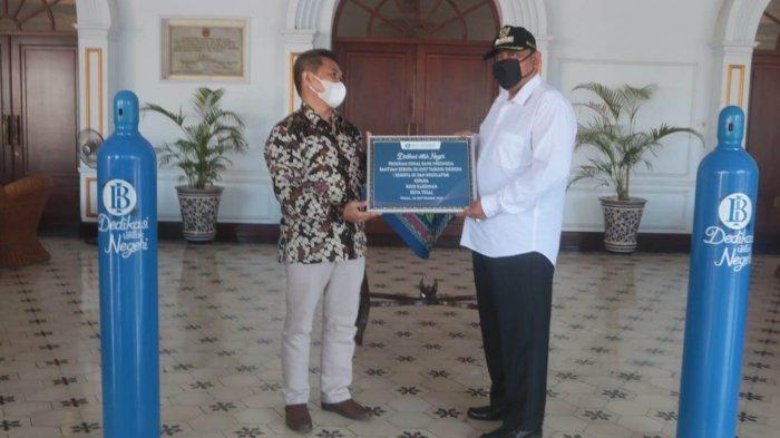 Pemkot Tegal Terima Bantuan 50 Tabung Oksigen dari Bank Indonesia, Dedy: untuk RSUD Kardinah
