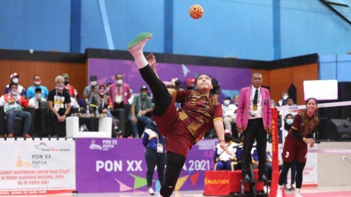 Tak Rugi Disemangati Ganjar di Final, Tim Sepak Takraw Putri Jateng Raih Medali Emas PON Papua