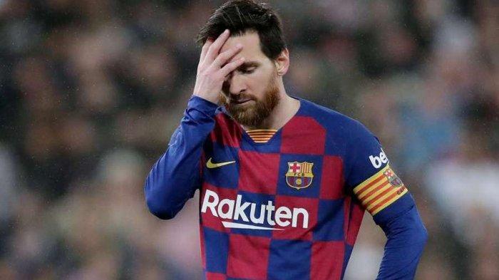 Messi Ngemis Maaf di Ruang Ganti Barcelona, Dapat Kartu Merah Perdana Gagal Bawa Barca Juara