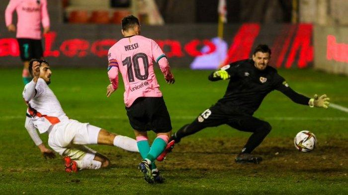 Rayo Vallecano vs Barcelona: Hanya Cetak Sebiji Gol, tapi Lionel Messi Ukir Rekor Mengesankan