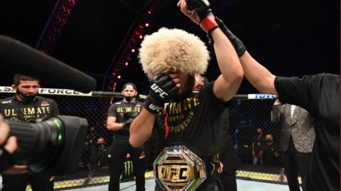 Pesan Menyentuh Khabib Nurmagomedov setelah Kalahkan Geathje dan Nyatakan Pensiun dari UFC