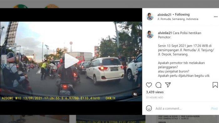 Viral Polisi Jatuhkan Pelanggar Lalin di Semarang hingga Tersungkur, Alvin Lie: Apa Perlu Begitu?