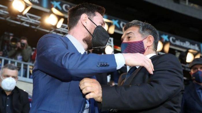 Dilantik Jadi Presiden Barcelona, Laporta Peluk dan Minta Maaf kepala Lionel Messi