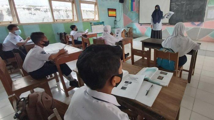 Gelar Simulasi PTM, SMPN 1 Wonopringgo Larang Peserta Didik Naik Angkot ke Sekolah, Ini Alasannya