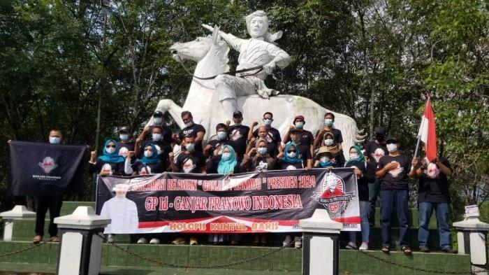 Relawan GPID Dukung Ganjar Pranowo Capres 2024, Gelar Deklarasi di Tugu Perbatasan Jateng-Jabar