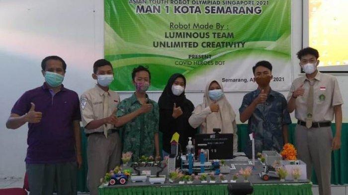 Robot Covid Heroes Bot MAN 1 Kota Semarang Raih Medali Emas Kompetisi Robotik Asia Tenggara
