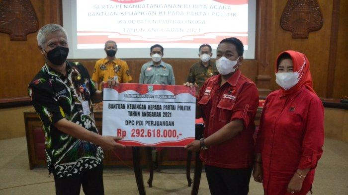 Sembilan Parpol di Purbalingga Dapat Bantuan Keuangan, PDI Perjuangan Paling Banyak
