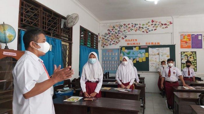 Pelaksanaan PTM SD di Tegal pada Minggu Pertama Fokus Psikososial Anak