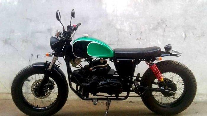 Kreatif! Bengkel di Kota Tegal Modifikasi Honda Vario Jadi Motor Custom Street Tracker