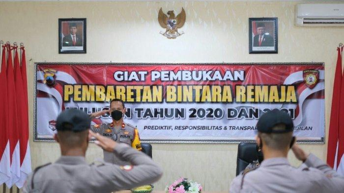 Kompol Didi Dewantoro Pimpin Pembaretan Bintara Remaja Polres Tegal