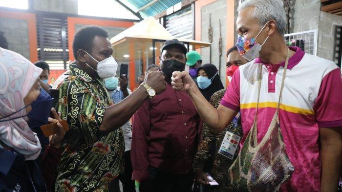 Orang Tua Mahasiswa Papua ke Ganjar Pranowo : Bapak Su Perhatikan Anak Kami