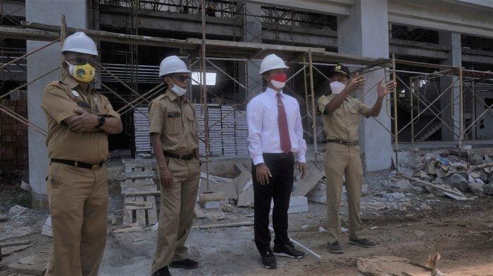 Progres Pembangunan GOR Indoor Lebih Cepat, Bupati Wihaji: Optimis Bisa Digunakan pada 2022