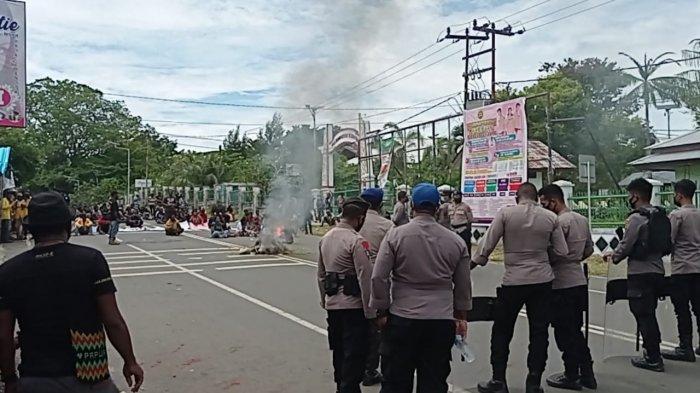 Massa yang Gelar Aksi Tolak Otsus di Manokwari Tak Kantongi Izin