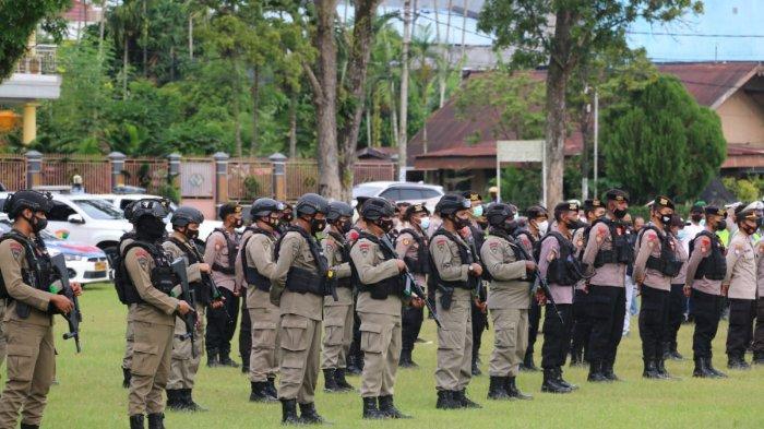 Polda Papua Barat Gelar Apel Gabungan Atasi Gangguan Kamtibmas Meningkat di Manokwari