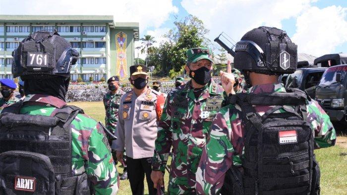 TNI-Polri Lakukan Apel Gelar Pasukan Jelang Kunjungan Wapres Ma'ruf Amin di Manokwari