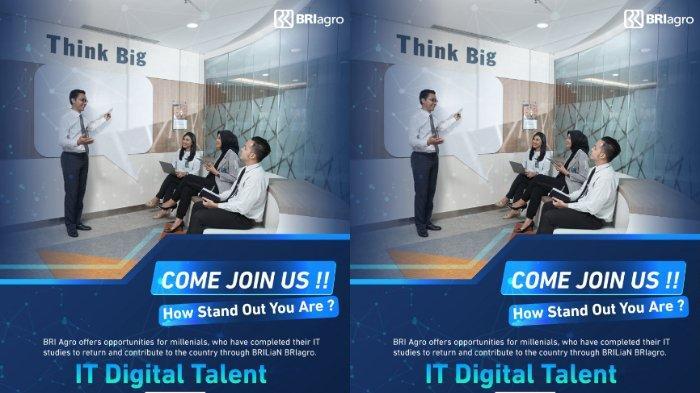 Lowongan Kerja BRI Agro IT Digital Talent, Ada 18 Posisi yang Dibutuhkan