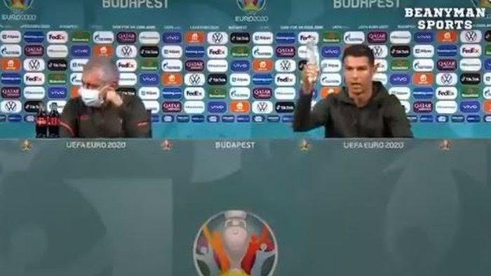 Viral Aksi Cristiano Ronaldo Singkirkan Minuman Bersoda dan Paul Pogba Singkirkan Bir Sponsor Euro