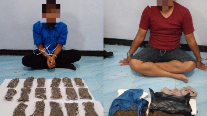 Dua tersangka kasus narkoba yang ditangkap Polda Papua Barat