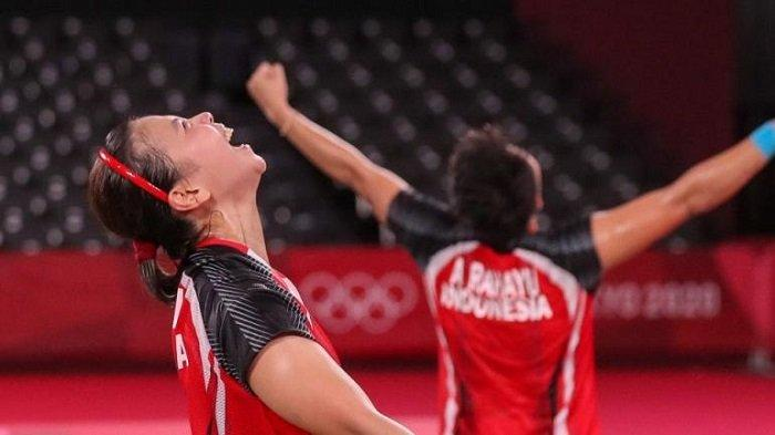 Greysia Polii-Apriani Rahayu Raih Emas di Olimpiade Tokyo, Jokowi: Selamat dan Terima Kasih!