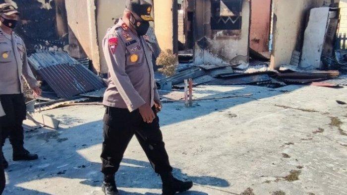 Kunjungi Polsek Nimboran yang Dibakar Massa, Kapolda Papua Gelar Pertemuan dengan Sejumlah Pihak