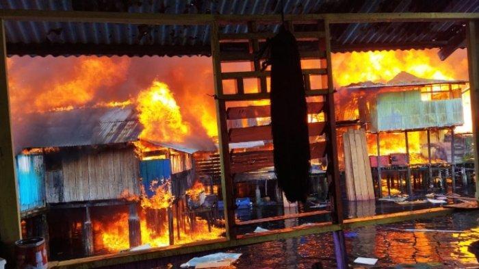 300 Rumah dan 1 Masjid Terbakar, Kapolres Manokwari: Masih Lakukan Olah TKP