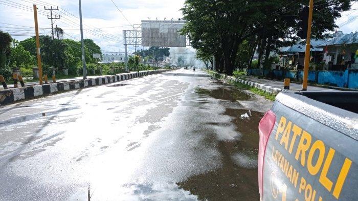 Kondisi terkini di ruas jalan Ahmad Yani, Distrik Sorong Kota, Kota Sorong