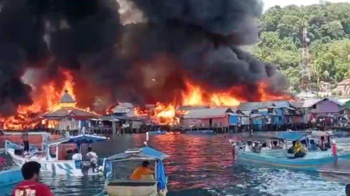 Puluhan Rumah di Komplek Borobudur Manokwari Terbakar, Warga: Api Menjalar Sangat Cepat