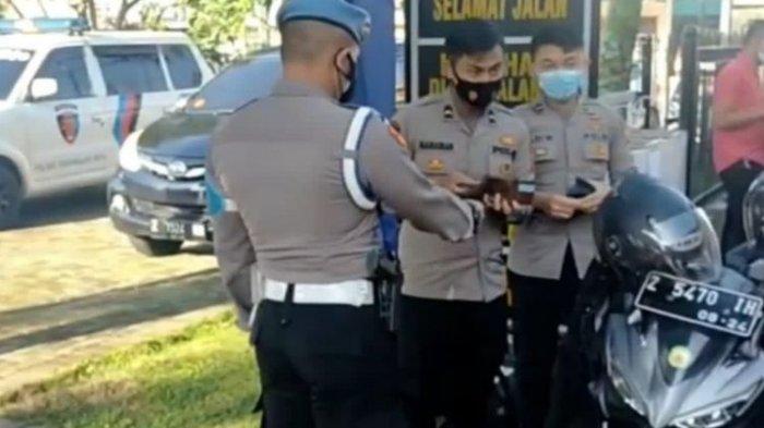 Polisi Ditilang oleh Rekannya Sesama Polisi, Tak Bawa SIM saat Hendak Masuk Kantor