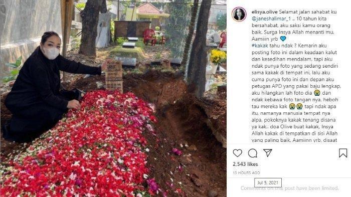 Viral Foto Penampakan Telapak Tangan di atas Makam Jane Shalimar, Manajer Ungkap Fakta di Baliknya