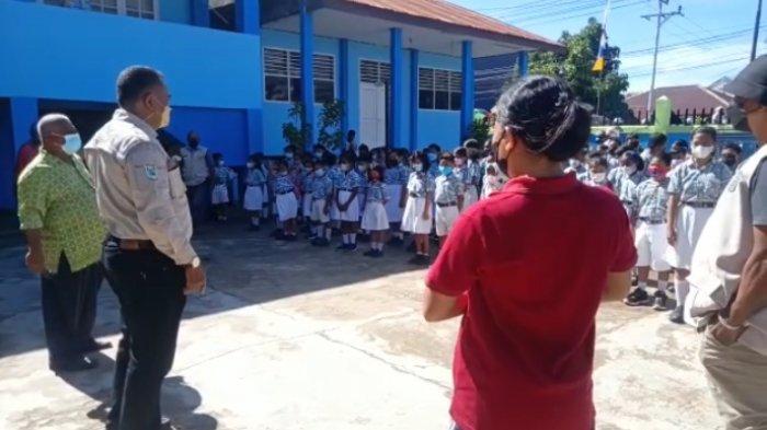 BREAKING NEWS: Satgas Covid-19 Kota Sorong Gelar Sidak di Sekolah
