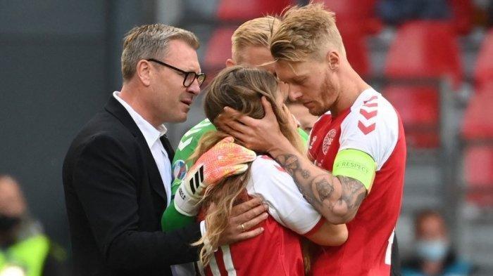 Kesigapan Kapten Timnas Denmark Simon Kjaer saat Christian Eriksen Kolaps Dipuji, Dianggap Pahlawan