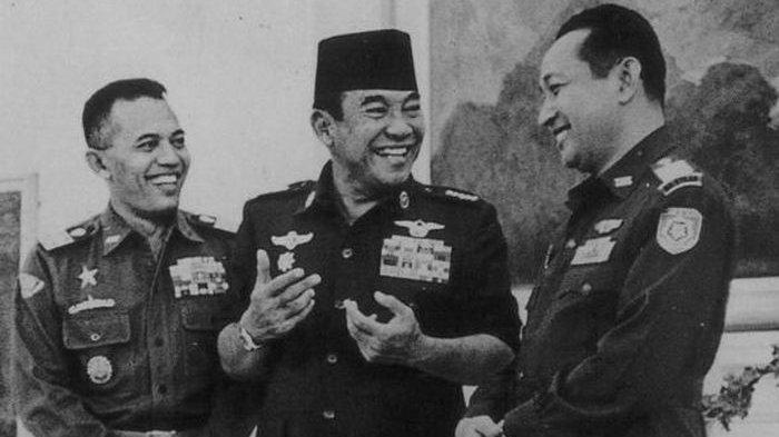 Soekarno, AH Nasution, dan Soeharto