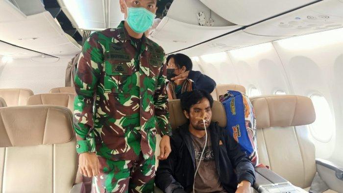 Selamat dari Penyerangan Posramil Kisor, Serda Imanuel Wenatubun Dievakuasi ke RSPAD Gatot Soebroto