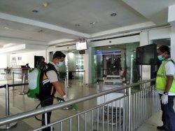 Cegah Covid-19, Bandara El Tari Lakukan Disinfeksi Area Terminal