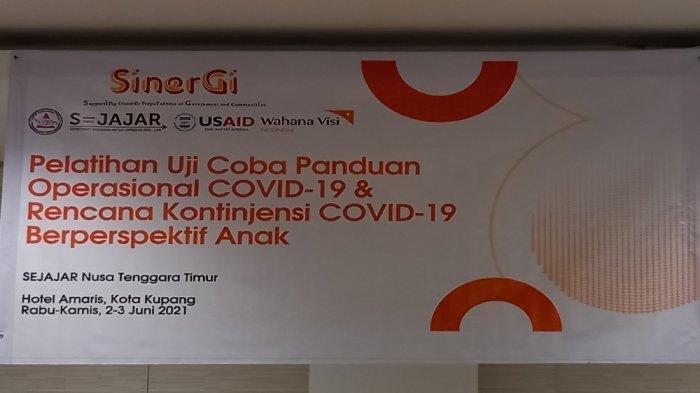 Pelatihan ujicoba panduan operasional Covid-19 berprespektif anak di Provinsi NTT, Rabu dan Kamis (2-3/6/2021) di Amaris Hotel Kupang.
