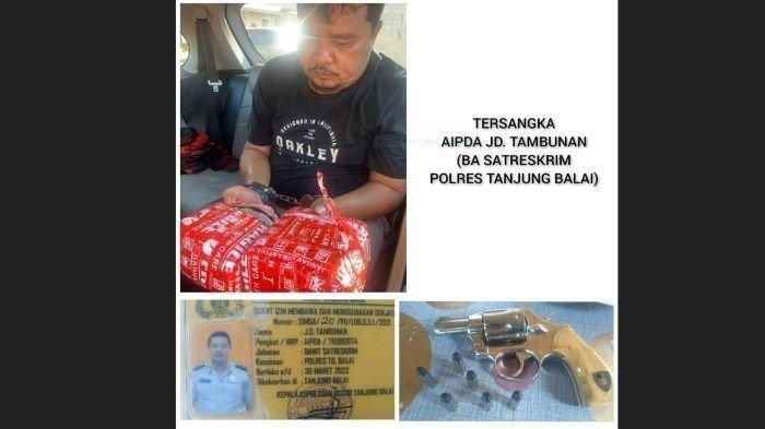 Edarkan Sabu, Anggota Polres Tanjungbalai Ditangkap saat Nginap di Hotel