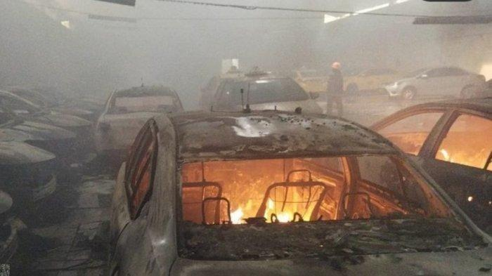 31 Mobil Taksi di Cimahi Ternyata Dibakar Mantan Sopir