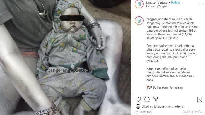 Demi Mencari Simpati Pengguna Jalan, Bayi 10 Bulan di Tangerang Dijadikan Manusia Silver