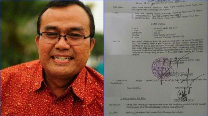 DPR Setujui Pemberian Amnesti untuk Saiful Mahdi