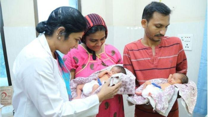 Wanita India Lahirkan Anak Kembar pada Hari Kematian Kedua Putrinya