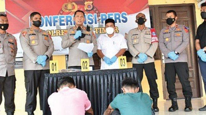 Polres Aceh Timur Ciduk Dua Tersangka Pelaku Judi Online