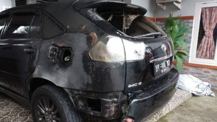 Mobil Mewah Ketua YARA Langsa Dibakar