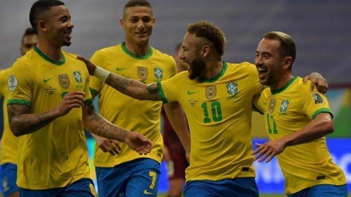 Copa America 2021 - Neymar Cetak Gol, Brasil 3-0 Venezuela