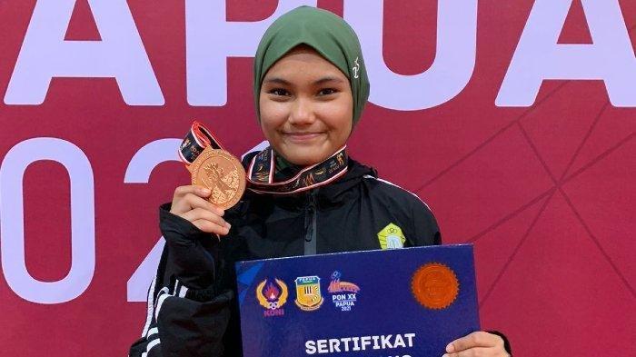 Elvanda Cantika Putri, Atlet Anggar Aceh Raih Medali di PON XX Papua 2021