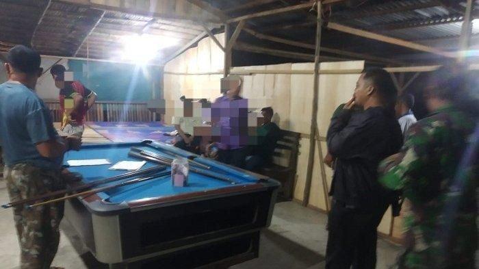 Delapan Pemain Judi Biliar Ditangkap Tim Gabungan