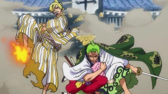 Spoiler Anime One Piece 1026: Roronoa Zoro dan Sanji Serius Lawan  King dan Queen