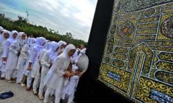 Siswa SMAN 3 Mataram Ujian Manasik Haji