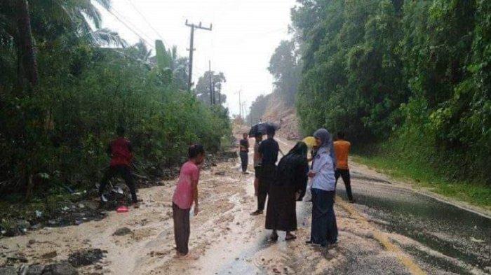 Sempat Longsor, Akses Jalan di Lombo'na Tubo Tengah Majene Kembali Normal